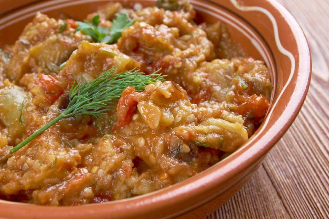 Zaalook – a Moroccan Eggplant Salad
