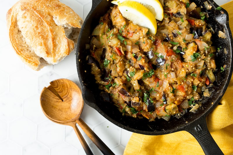 Za'alook – a Moroccan Eggplant Salad