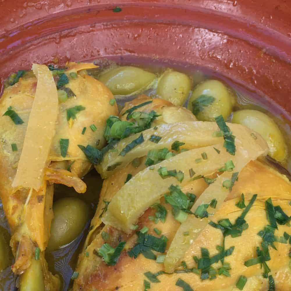 Chicken Tajine with Preserved Lemons and Olives