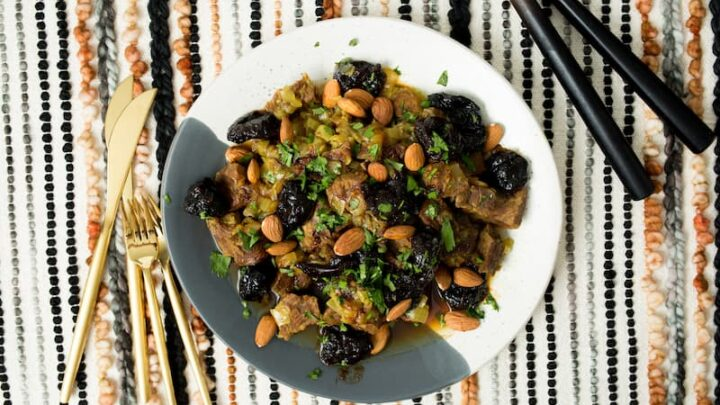 Moroccan Beef (or Lamb) Tajine with Prunes