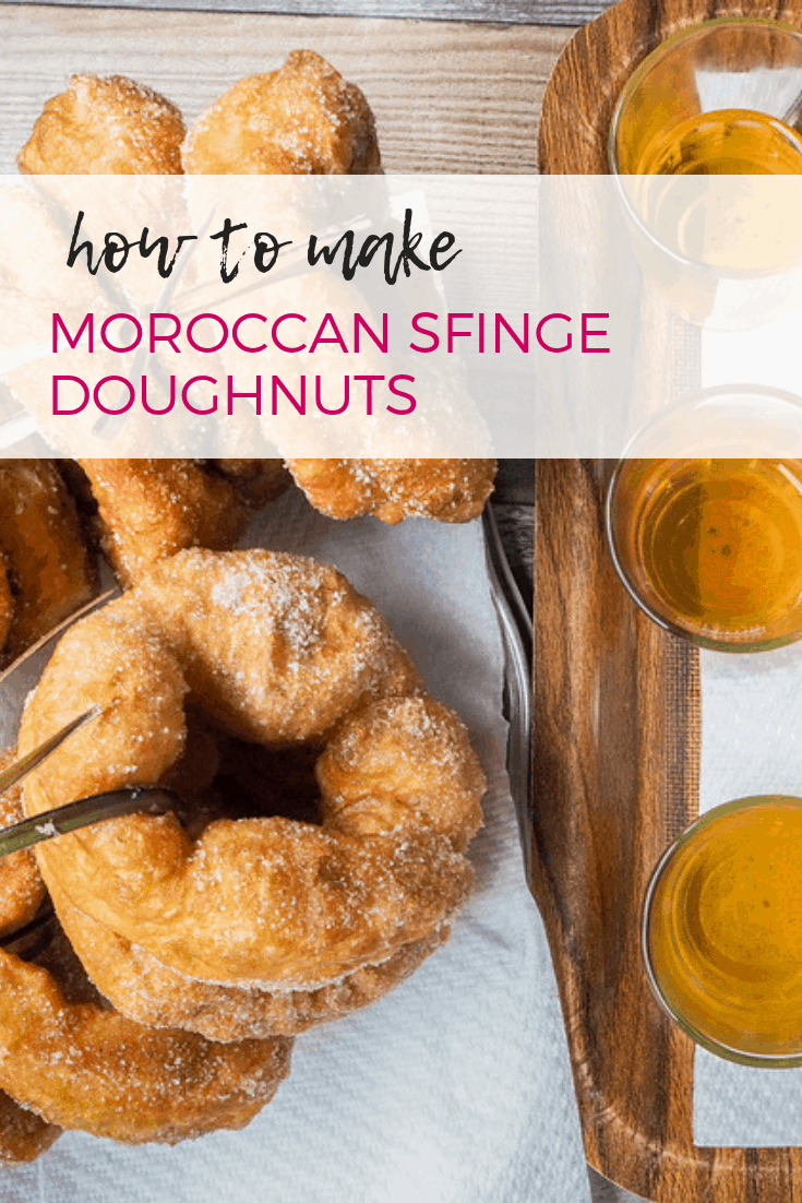 A recipe to make Moroccan doughnuts, also known as sfinge.