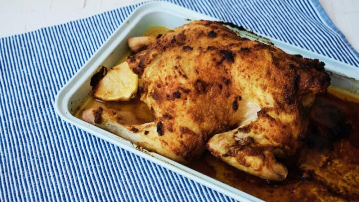 Roasted Chicken with Moroccan 6 Spices