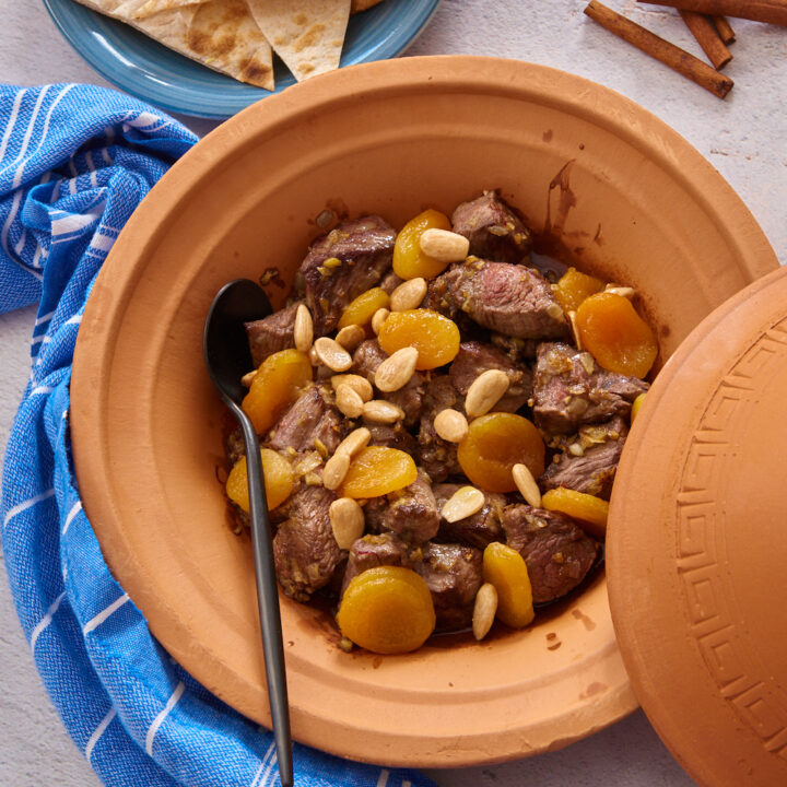Beef Tagine with Apricots and Almonds