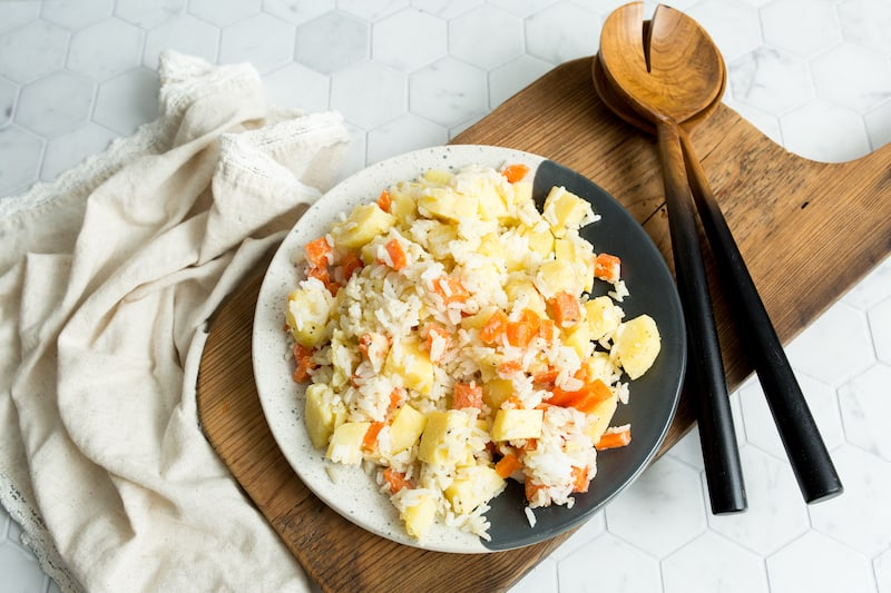 Potato, Carrot and Rice Salad