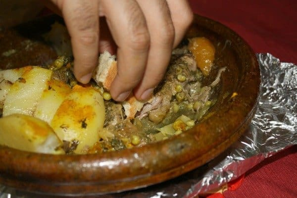Eating Tajine with Bread