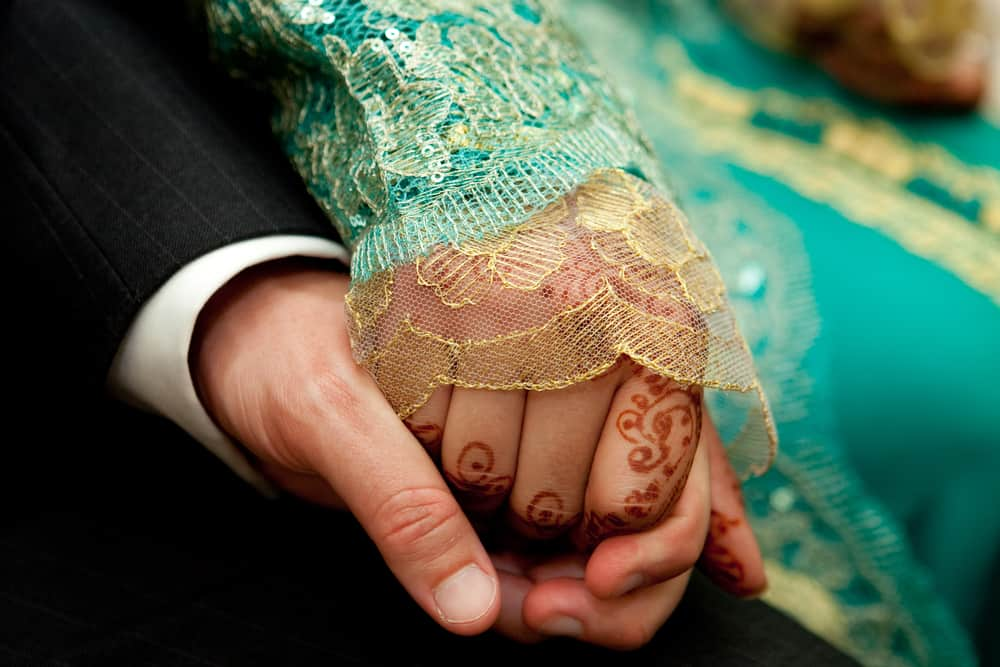 Moroccan brides always have henna done for their wedding!