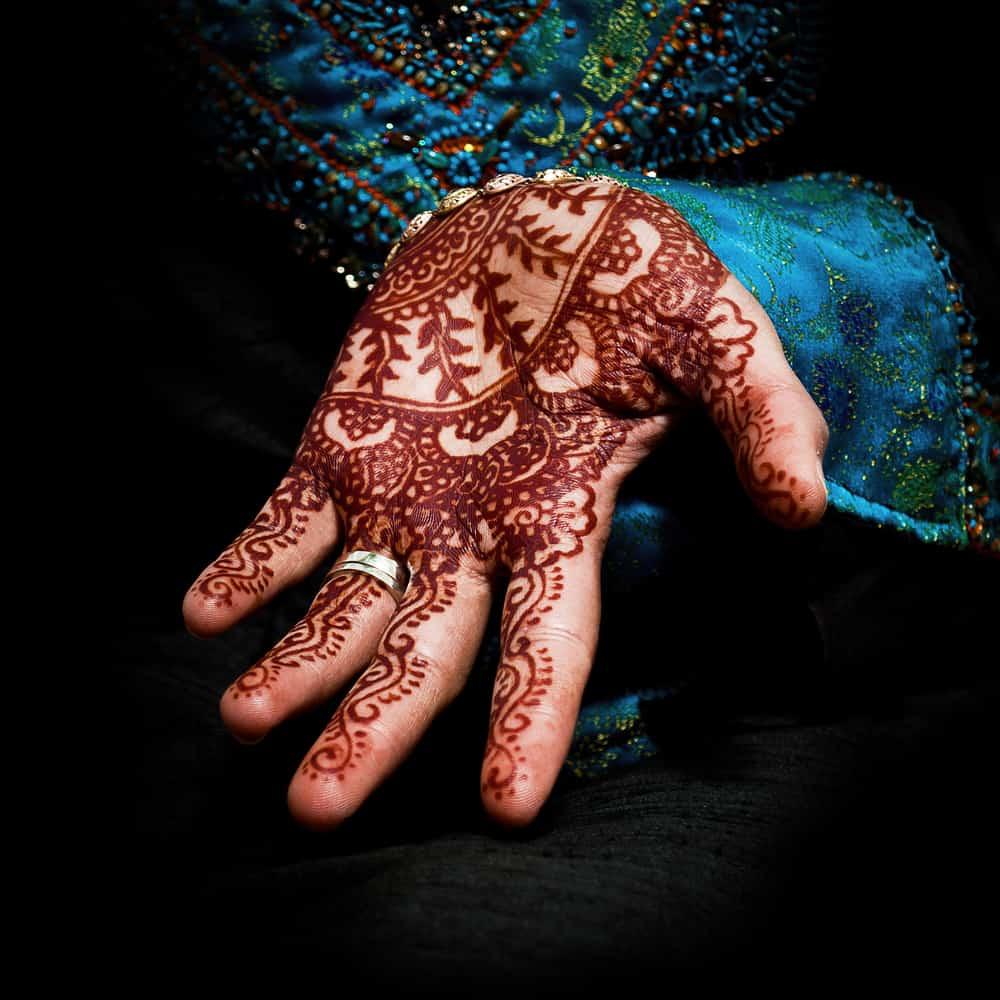 Henna on a brides hands