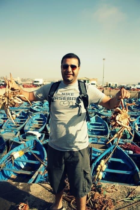 Fresh Crab in Essaouira
