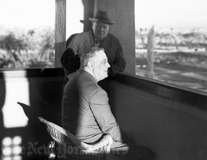 Roosevelt and Churchill in Morocco