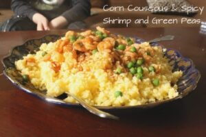 Corn Couscous and Shrimp