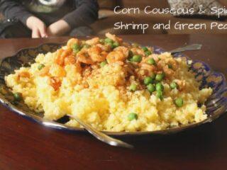 Corn Couscous and Shrimp