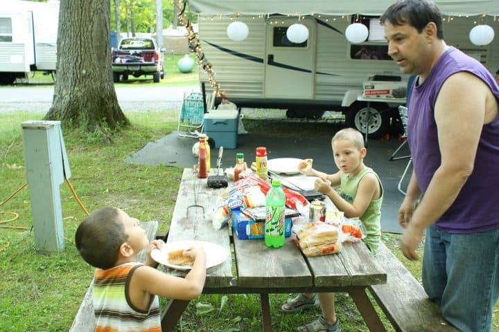 Camping and Eating