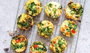 6 Ingredient Gluten free Veggie Egg Cups
