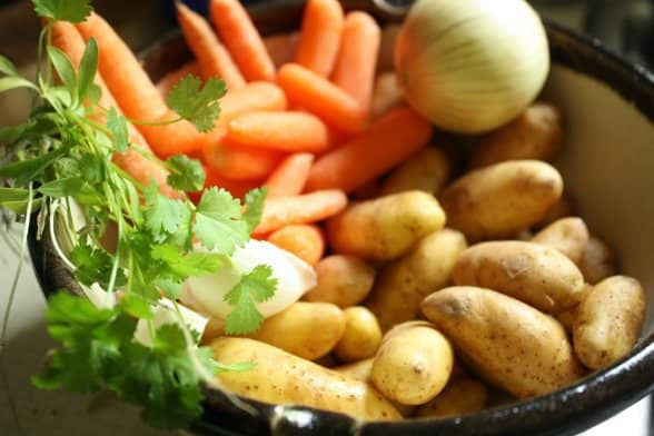 Vegetables for Moroccan Chicken and Rice Soup