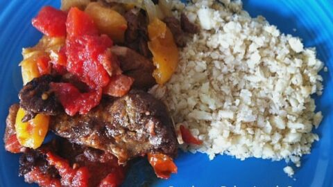 Crockpot Paleo Lamb Stew with Cauliflower Rice