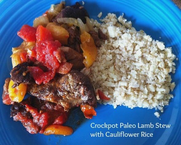 Crockpot Paleo Lamb Stew with Caulflower Rice