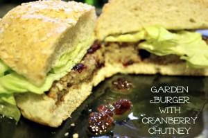 Garden Burger with Cranberry Chutney