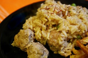 Saffron Rice and Meatballs