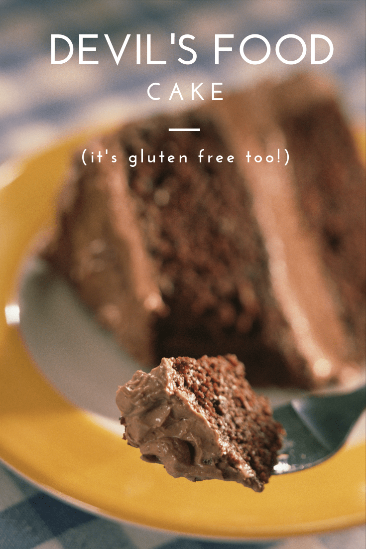A delicious gluten free devils food cake recipe made from scratch.