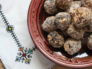 Moroccan Haroset Truffles
