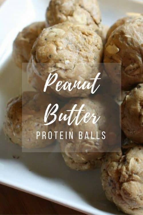 An easy recipe to make protein filled peanut butter balls; perfect for snacking or a treat.