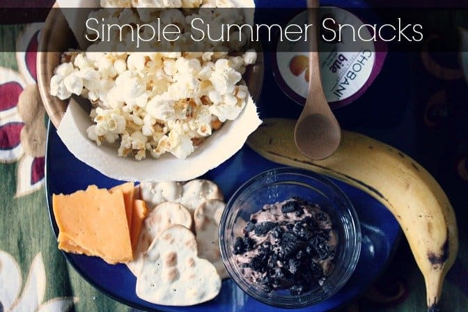 Easy Chocolate Cheesecake Pudding + Simple Summer Snacks