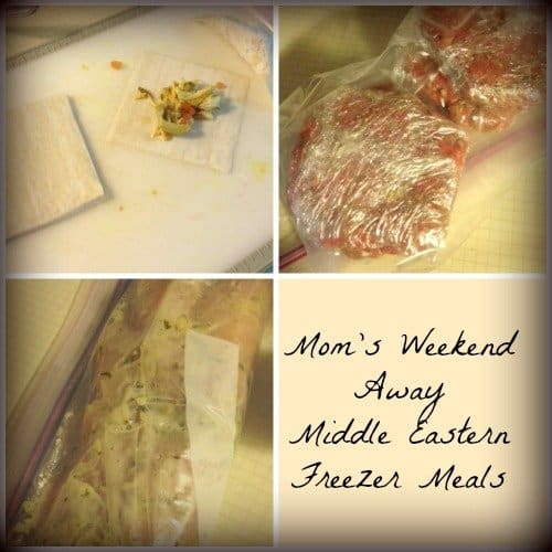 Freezer Meals for a Mom's Weekend