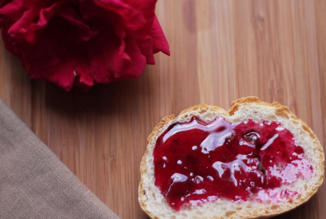 Rose Jam on Bread