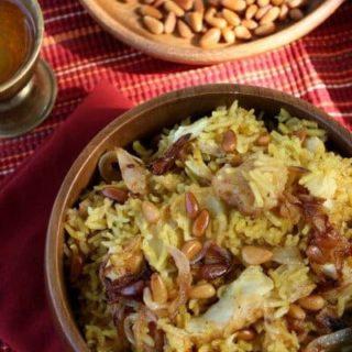 Sayadieh Bil Samek Fish with Rice Finished Dish