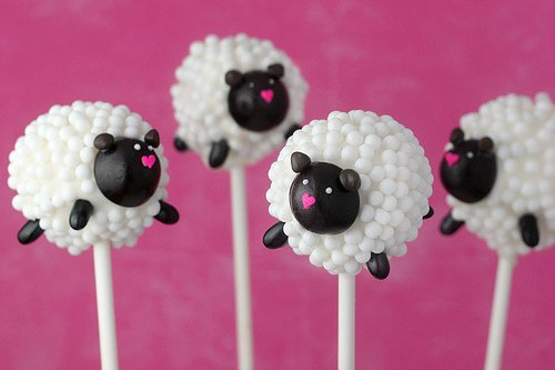 Sheep Cake Pops for Eid