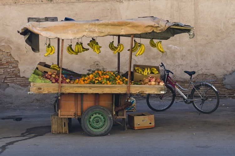 Fresh Fruit Stand in Morocco