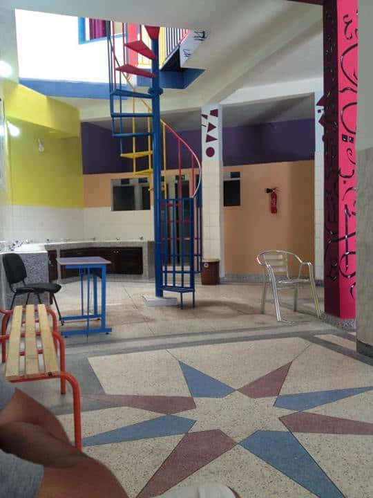 Inside of our children's school in Morocco
