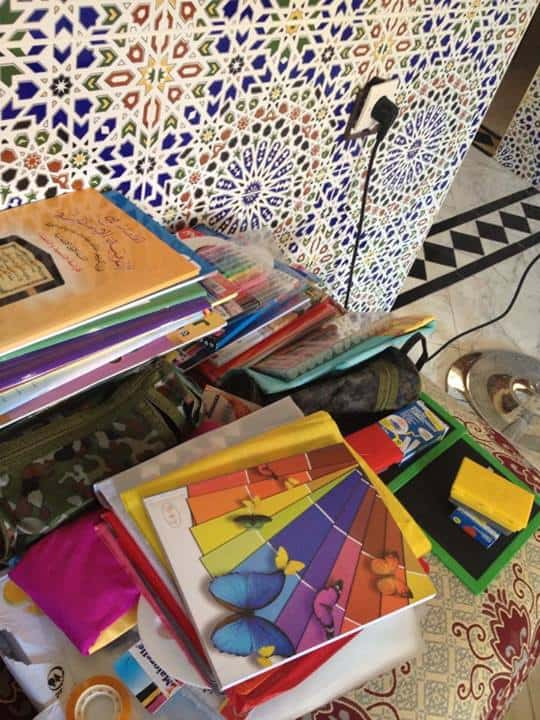 School supplies for Moroccan elementary school