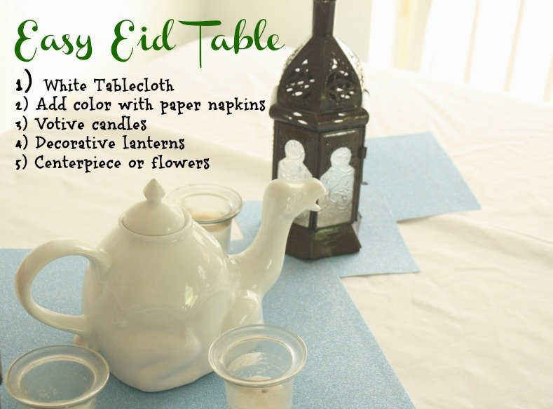 Easy Eid Table