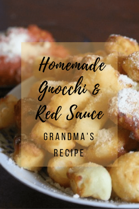 Homemade Gnocchi with Red Sauce