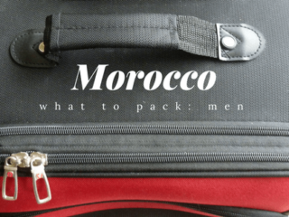 Morocco packing for men