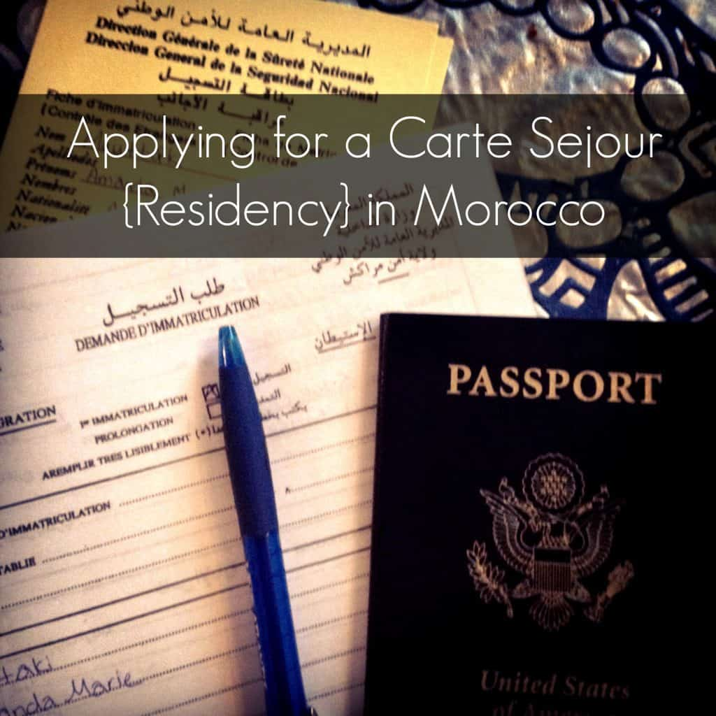 Lying For A Carte Sejour Residency In Morocco