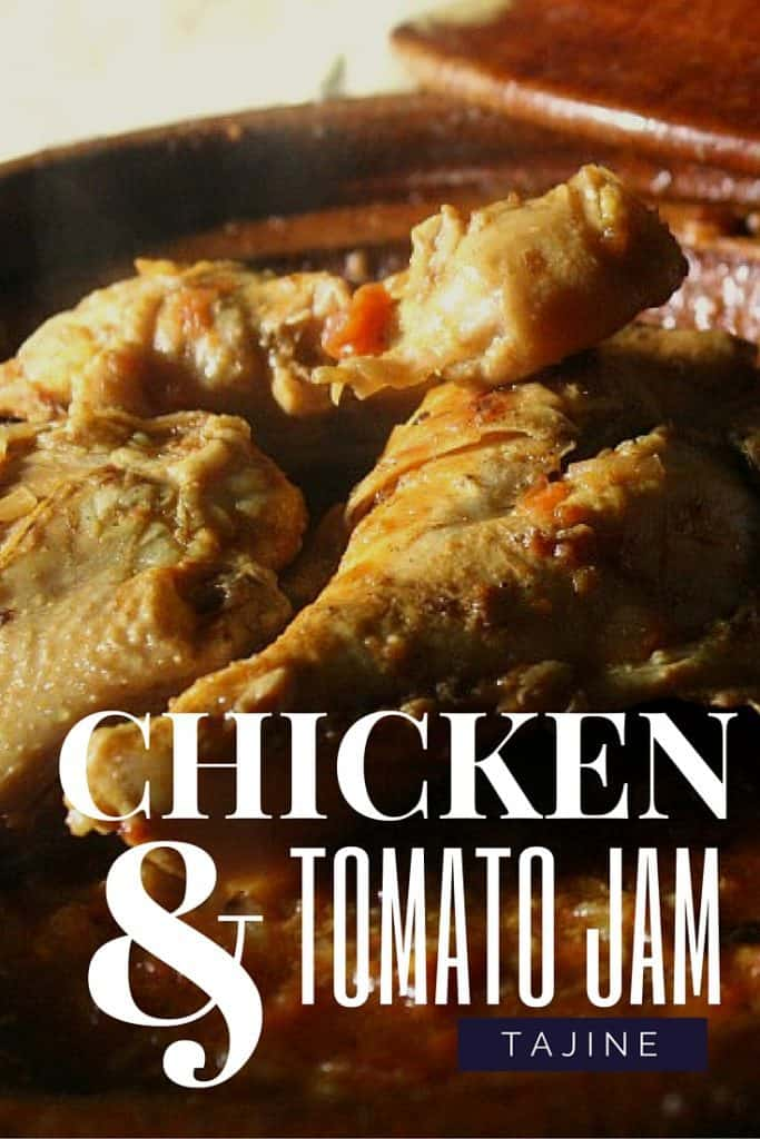 Chicken with onion and tomato jam tajine