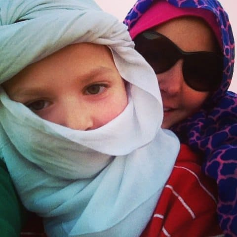Riding Camels in Scarves