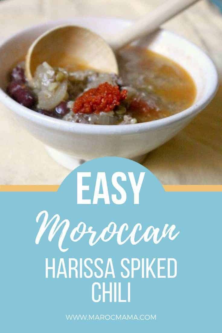 Make your chili extra special with this Moroccan twist. Add as much or as little harissa as you like!