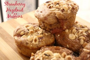 Strawberry Hazelnut Muffins Horizontal