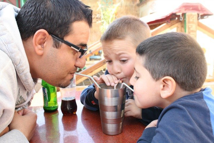 Milkshake at Cafe Clock in Fez