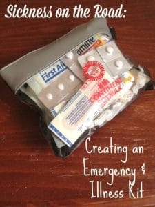 Emergency Kit for Handling Sickness on the Road