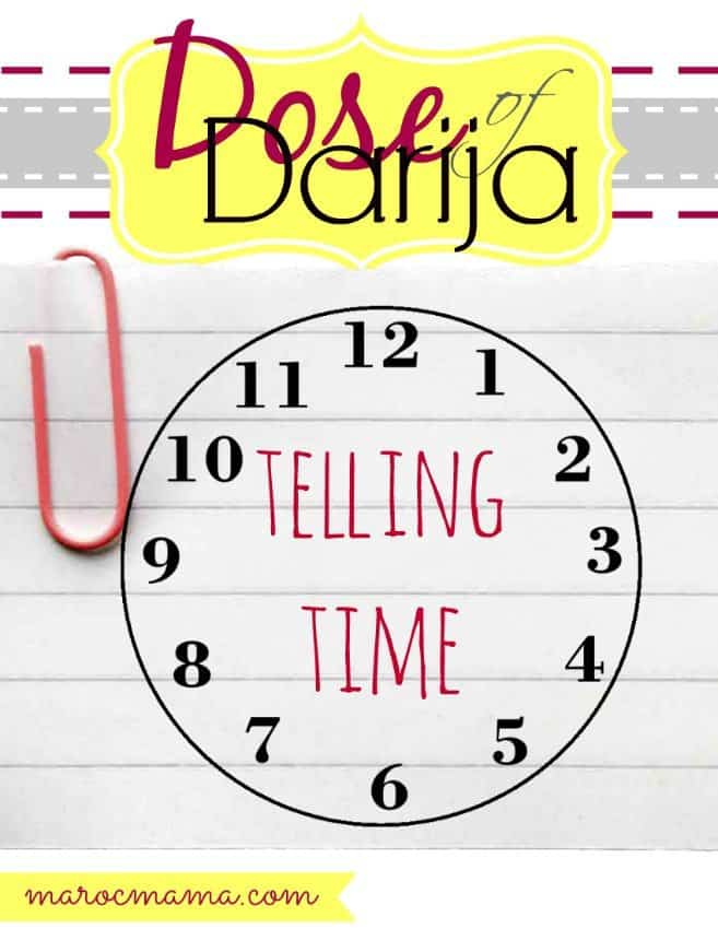 Telling Time in Darija