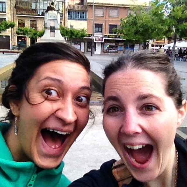 Today's #passportpartyproject theme is child's play. Everyone needs the friend that makes it totally ok to be silly. This is my #bff since 6th grade when we met. In May and June she stayed in morocco with us and we spent a week in #Spain having a blast! #latergram #astorga #silly #laugh #smile #friends #travel
