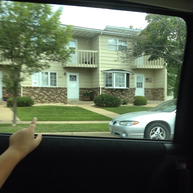 We drove past our old house today. It was a little sad. #expatlife #home #nomads