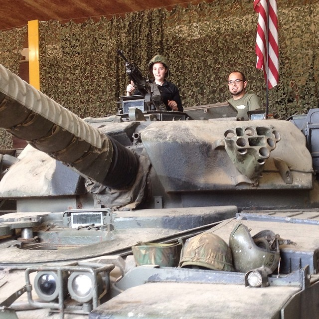 Things to do in America. Drive a tank! This was really fun and a great experience! But also brings home how real and dangerous this weaponry is. #travel #visitmankatomn #minnesota #military