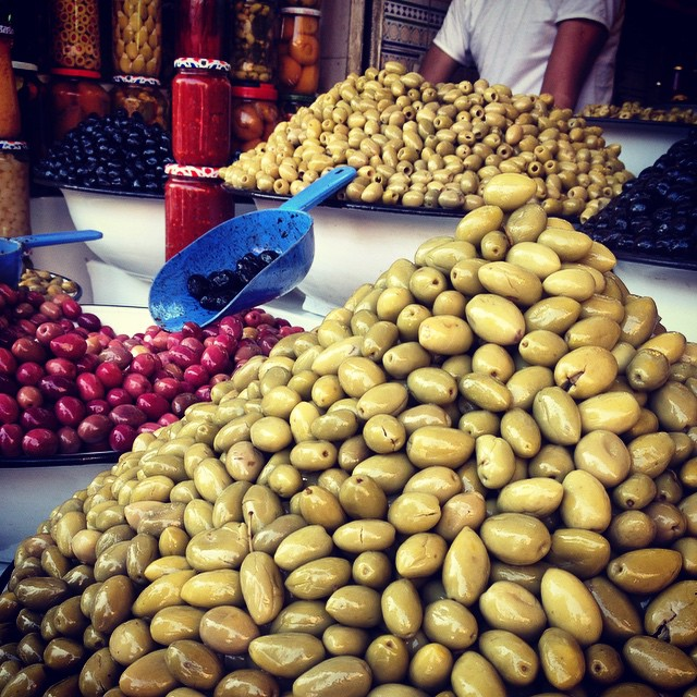 I don't think I ever loved olives as much as I do since moving here. I could live off of them. #Marrakech #Morocco #souk #souq #eatlocal