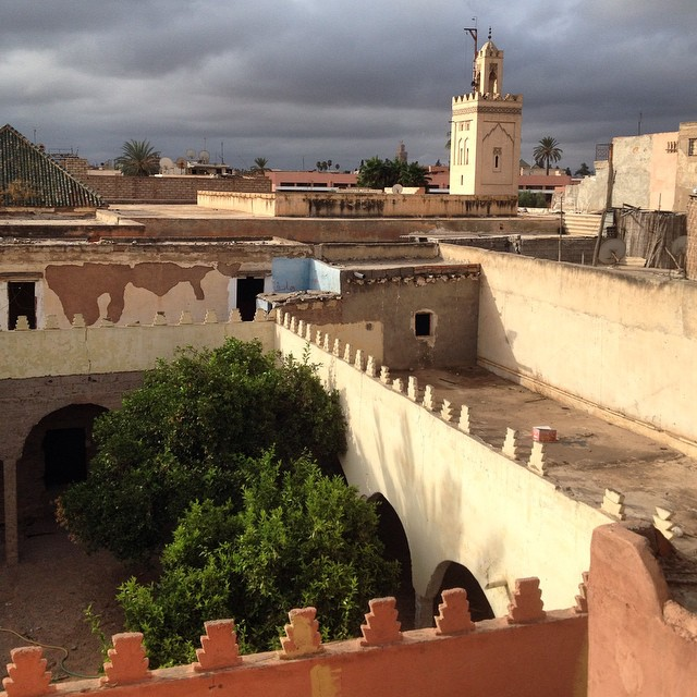 Good morning from a cloudy #marrakech. Isn't it beautiful still? #morocco