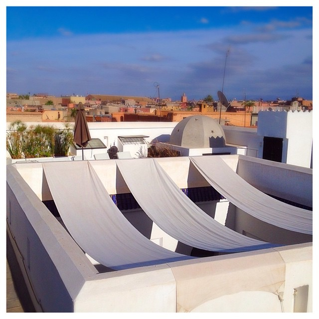 I've been on lots of rooftops but this one is my favorite! #marrakech #morocco #roof #nofilter #instaphoto #africa